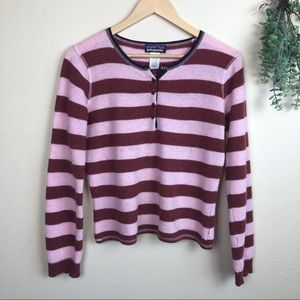 Patagonia | Striped Henley Cashmere Sweater